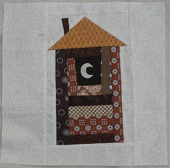 Outhouse Quilt Block
